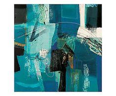 Stampa fine art su canvas con telaio in legno Trasparenze - 70x70x4 cm