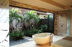 Make nature an integral part of your bath experience