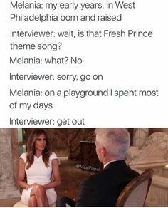 Melania Trump interview - this meme is too funny