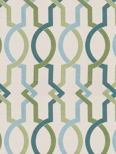 Teal Trellis Upholstery Fabric for Furniture - Modern Turquoise Geometric Upholstery Yardage - Green Trellis Custom Pillow Covers