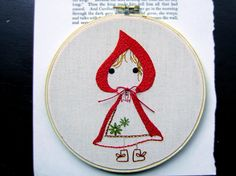 Embroidery Design PDF Pattern Little Red Riding Hood