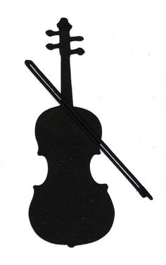 Violin or Cello Silhouette die cut for scrap booking or card making. $0.75, via Etsy.
