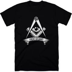 Ordo Ab Chao t-shirt. Ordo ab chao AKA order from chaos is the motto of the 33 degree Freemasons. The motto is self explanatory, creating order out of created chaos. Expose the purposeful creation of a worldwide dystopia with our 'Ordo ab chao' t-shirt.  #ordoabchao #truth #truthtshirts #illuminati #newworldorder #nwo #freemason  TRUTHTSHIRTS.COM
