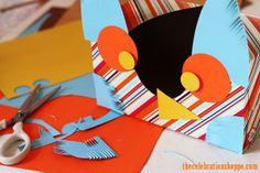 simple owl Valentine card box | TheCelebrationShoppe.com #kidcraft #valentine #owl