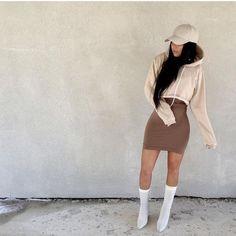 Sweater + Cap + Bodycon