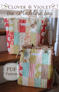 the Madeline diaper or travel bag pdf sewing by cloverandviolet, $9.00