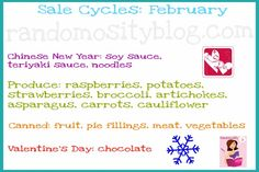 February - Cycles to find things on sale in February