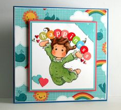 Adorable handmade Happiness Card with Tilda by rbowen on Etsy