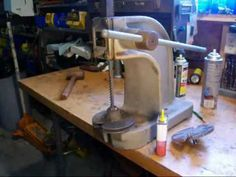 Easy Arbor Press Modification - YouTube Diy Leather Tools, Metal Working Tools, Pulley, Leather Tooling, I Shop, Easy, Youtube, Youtube Movies