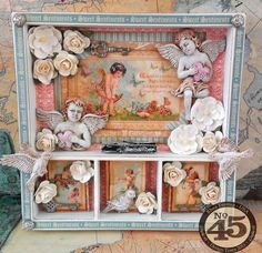 An altered shadowbox that dreams are made of! By: Rhea using Sweet Sentiments #graphic45