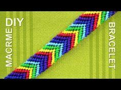 How to make a Chevron (Arrows) Rainbow Friendship bracelet - YouTube