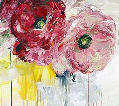 Contemporary art gallery located in San Francisco and St. Specializing in American and European paintings, drawings, sculpture, and prints Acrylic Flowers, Abstract Flowers, Abstract Art, Art Floral, Flower Canvas, Flower Art, Acrylic Artwork, Paintings I Love, Art For Art Sake