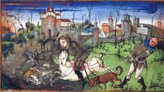 Egerton Book of Hours Wolfgang Beurer (15thc.) et al. Stag Hunting
