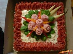 Sandwich Cake, Sandwiches, Food Decoration, Food Art, Buffet, Brunch, Carving, Cheese, Desserts