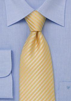 Krawatte in gelb mit feinen Streifen
