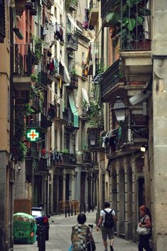 The Gothic Quarter, Barcelona.I want to visit here one day.Please check out my…