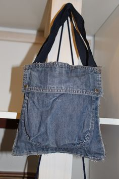 Jeans bag for man #restyling #reuse #recycle #wood #jeans #bag #furniture #art #creativity #design #restyling #doridesign