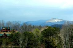 View from Southern Union County looking toward Brasstown Bald in North Georgia.