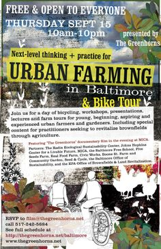 Urban Farming is a HOT topic in Baltimore!
