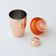 Japanese Copper Cocktail Shaker . Along the pink theme this could be a bridesmaid/groomsman gift--or how about a pair of moscow mule cups for them? They're kind of pink??