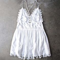 summer lace mini dress - coconut - shophearts - 1