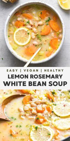 Veggie Recipes, Whole Food Recipes, Vegetarian Recipes, Dinner Recipes, Cooking Recipes, Healthy Recipes, Vegan Bean Recipes, Summer Soup Recipes, Chicken Broth Recipes