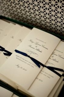 lovely ceremony programs