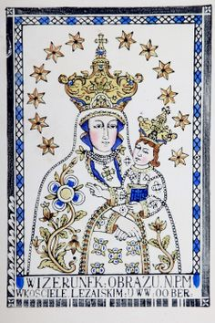 Matki Bożej Pocieszenia A woodcut of the miraculous icon of Our Lady of…
