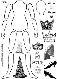 ART DOLL - PAPER doll http://www.pinterest.com/lilbitoflondon/little-bit-of-printing/