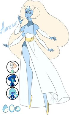 A fusion of Pearl, Lapis and Sapphire as requested by RebelleIce Steven Universe Fan fusion: Angelite Steven Universe All Gems, Steven Universe Fan Fusions, Anime Mouth Drawing, Gem Fusions, First Animation, Universe Art, Fantasy, Kawaii Anime, Character Art