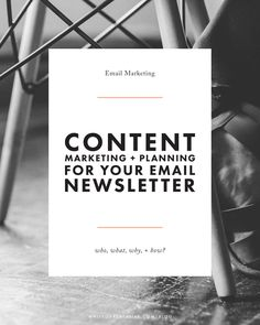 Starting a Blog Newsletter - The Who, What, Why, + How | blog tutorial, content marketing, blog design, mailchimp tip, how to