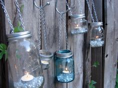 Hand Made Mason jar Tea Light or Votive Lid -  With Chain for Hanging - Fits All Standard Mason Jars on Etsy, $3.25