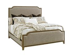 Come home to the casual elegance of the Cypress Point Upholstered Panel Bed from Tommy Bahama Home. Cypress Point merges comfort with style to create a sense of authenticity. Upholstered Platform Bed, Upholstered Beds, Hooker Furniture, Bedroom Furniture, Cal King Bedding, Lexington Home, California King Bedding, Adjustable Beds, Panel Bed