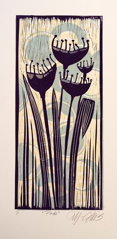 Lino Mix and Match - Purple Pods | Flickr - Photo Sharing!