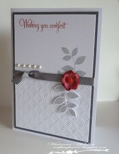 """""""A Sympathy Card"""" - Crafting Haven - Vivienne Holden - May 22/13"""