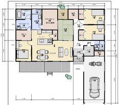 House Plans, Floor Plans, Japan, How To Plan, Life, Home Decor, Detached House, Decoration Home, Room Decor