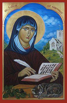 Icon of Saint Julian of Norwich painted by Marchela Dimitrova