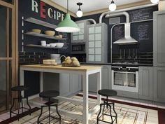 Картинки по запросу кухня лофт