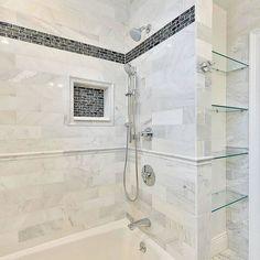 Hampton Carrara Polished Marble Subway Tile - 4 x 12 in.