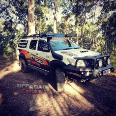 Off Road Central's Hilux is out check out the track, putting all the accessories to the test! 4x4 Accessories, Toyota Hilux, Offroad, Monster Trucks, Track, Gallery, Fit, Ideas, Off Road