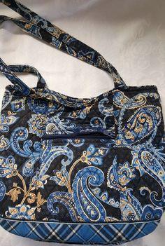 Vera Bradley Windsor Navy Bucket Tote Purse Handbag Retired #VeraBradley #BucketPurse