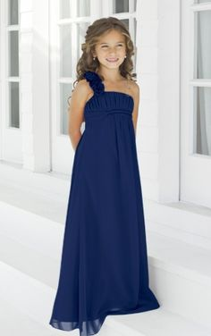 Navy Bridesmaid dress. Alexia designs chiffon style from Alison Jane Bridal Mirfield West Yorkshire
