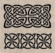 Celtic Pattern Stencil Set by CutItOutStencil on Etsy, $18.00