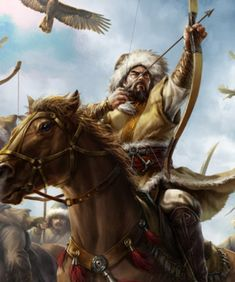 Mongol Horse Archer in battle Fantasy Warrior, Character Inspiration, Character Art, Herren Hand Tattoos, Baroque Painting, Genghis Khan, The Legend Of Heroes, Empire Of Storms, Warrior Spirit