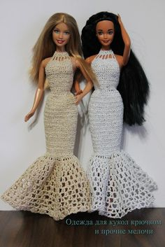 Free pattern of long evening dress for Barbie