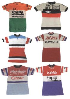 Mens Collections: Vintage Sports-Cycling Bike Badges and Engineer Stripe Jerseys