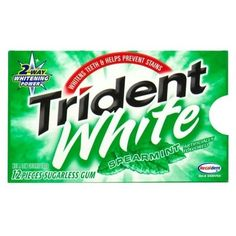 Trident White Spearmint Sugarless Gum 12 X 12 Pack Food and Drink ❤ liked on Polyvore