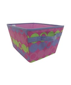 Take a look at this Purple & Yellow Dot Storage Bin by homz on #zulily today!