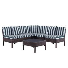 Naples 6 Piece Deep Seating Group with Cushions