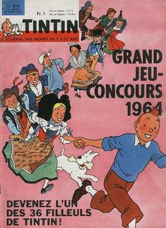 Grand jeu-concours 1964 : Les 36 filleuls de Tintin
